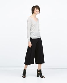Image 1 of FRONT AND BACK V-NECK SWEATER from Zara