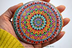 I wish there's more than 24 hours a day ..I want to paint more of these #mandalas with different colors as well as new designs. #paintedstones