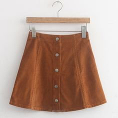 Corduroy High Waisted Button A Line Skirt-Skirts-Look Love Lust, https://www.looklovelust.com/products/corduroy-high-waisted-button-a-line-skirt