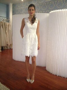 Custom Made Dazzling Homecoming Dresses A-Line, Lace Homecoming Dresses, White Homecoming Dresses, White Lace Homecoming Dresses Elopement Dress, Elopement Wedding, White Homecoming Dresses, Prom Gowns, A Line Cocktail Dress, Cocktail Wedding Dress, Informal Weddings, Short Gowns, Cheap Dresses Online