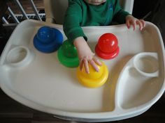 Color sorting for younger toddlers, use balls and rings -- Learners in Bloom