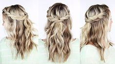 medieval braids with curly hair - YouTube