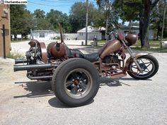 Rat VW Trike Vw Trike, Cafe Racer Motorcycle, Bike With Sidecar, Boss Hoss, Custom Trikes, Reverse Trike, Chopper Bike, Bike Art, Rats