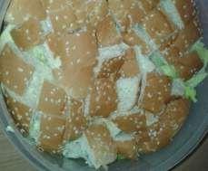 Rezept Schichtsalat a la Burger von Bina1979 - Rezept der Kategorie Vorspeisen/Salate
