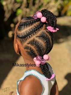 27 Best Ideas For Baby Girl Hairstyles Black Ponytails Little Girl Braid Styles, Little Girl Braids, Braids For Kids, Toddler Braids, Toddler Braid Styles, Braids For Black Kids, Children Braids, Kid Braids, Toddler Braided Hairstyles