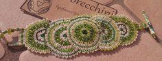 Brick stitch bracelet green