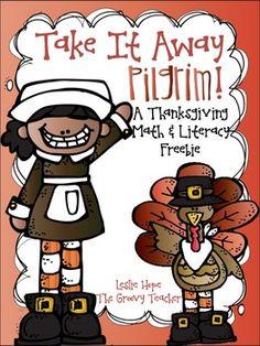 Thanksgiving Math & Literacy Freebie