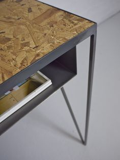 Steel metal desk with OSB table top. Designed by &New #steelfurniture #madeinuk #andnewfurniture