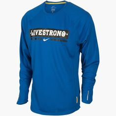 Men's Nike LIVESTRONG GRAPHIC LONG SLEEVE DRI FIT TEE