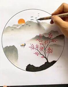 Oil Pastel Art, Oil Pastel Drawings, Art Drawings Sketches Simple, Art Drawings Beautiful, Art Drawings For Kids, Small Canvas Art, Diy Canvas Art, Watercolor Paintings For Beginners, Watercolor Art