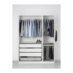 PAX Wardrobe - soft closing hinge, 150x60x201 cm - IKEA  Wardrobe for me - can it be two pieces?