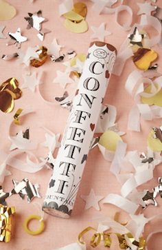 Confetti push pops - great for wedding departures