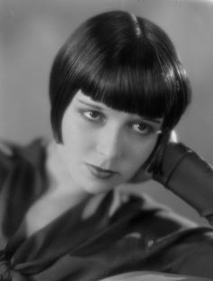 Louise Brooks (November 14, 1906 – August 8, 1985), born Mary Louise Brooks, was an American dancer and actress, noted for popularizing the bobbed haircut.