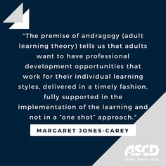 What staff development should look like in 21st century schools.