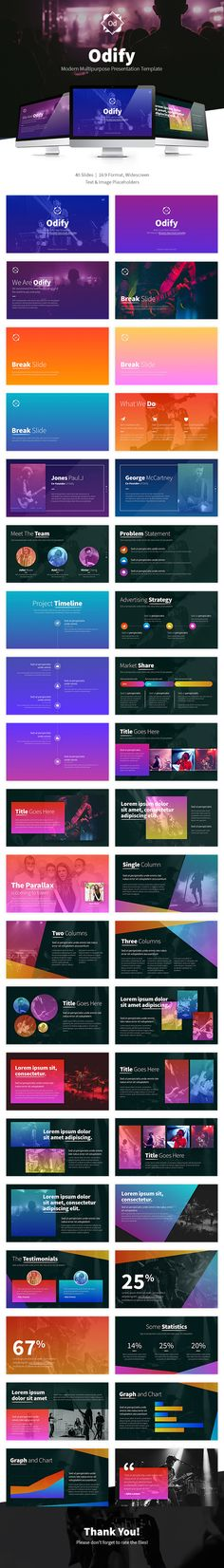 Odify Presentation Template - #PowerPoint Templates #Presentation #Templates Download here: https://graphicriver.net/item/odify-presentation-template/20109089?ref=alena994
