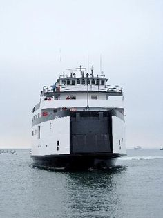 """""""There it is!  There it is!  We're almost there!""""  The Nantucket Ferry arriving from Hyannis."""