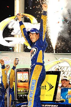 NASCAR: Keselowski Victorious At Kentucky  Keselowski raced to his series-leading third victory of the year Saturday night, grabbing the lead with 55 laps remaining and holding off all challengers in the NASCAR Sprint Cup race at Kentucky Speedway.  keepinitrealsports.tumblr.com  keepinitrealsports.wordpress.com  facebook.com/pages/KeepinitRealSports/250933458354216  Mobile- m.keepinitrealsports.com