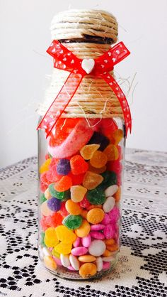 Valentine Decorations, Valentine Wreath, Valentines, Candy Gifts, Jar Gifts, Chocolates, Candy Art, Happy Pills, Favorite Candy