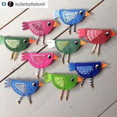 @kullerbyttatextil #bordado #broderie #embroidery #ricamo #feltro