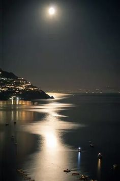 Moon Lit Evening ~ Positano, Italy (One of these days. I will get to Positano!