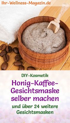 Make honey coffee face mask yourself - recipe and instructions .- Honig-Kaffee-Gesichtsmaske selber machen – Rezept und Anleitung Make your own honey coffee face mask – DIY recipe for a homemade face mask with peeling effect from only 3 ingredients - Diy Exfoliating Face Scrub, Diy Face Scrub, Diy Mask, Diy Face Mask, Mask Draw, Diy Peel Off Face Mask, Mascarilla Diy, Honey Coffee, Cucumber Face Mask