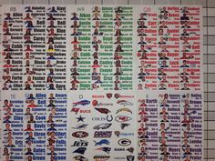 2016 fantasy football draft kit full color photo player labels xl board rookies prodraftkits