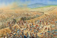 The Greeks storm the Persian encampment at the Battle of Mycale. Along with Plataea, this battle put the nail in the coffin of the great second invasion of Greece. Art by Peter Dennis
