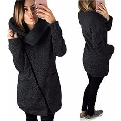 TAORE Women Casual Zip up Hoodies Sweatshirt Tunic Hoodie Jacket With Fleece ** Want to know more, click on the image. (This is an affiliate link) #FashionHoodiesSweatshirts