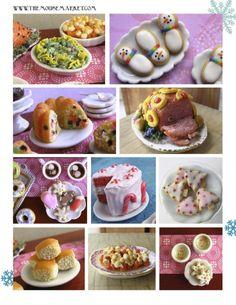 Pinterest Dollhouse Miniature Tutorials | Polymer Clay Tutorial How to Sculpt Dollhouse Miniature Holiday Foods ...