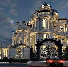 Mansion Interior, Dream House Interior, Luxury Homes Dream Houses, Dream Home Design, Modern House Design, Classic House Exterior, Dream Mansion, Design Case, House Styles