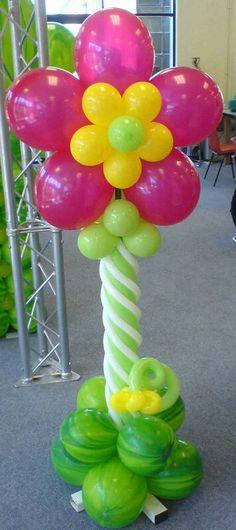 Balloon - fun flower column