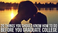 20 Things You Should Know How to Do Before You Graduate College. Don't let the picture fool you. These are legitimate tips. After College, College Years, College Life, College Essentials, College Hacks, College Survival, School Daze, Life Skills, College Students