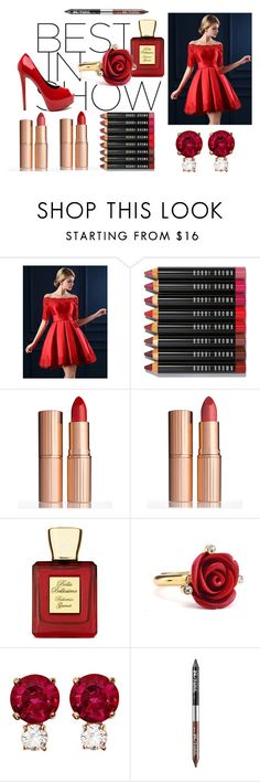 """""""2 HOT 2 HANDLE"""" by zahrahimani-eis ❤ liked on Polyvore featuring WithChic, Bobbi Brown Cosmetics, Charlotte Tilbury, Bella Bellissima, Oscar de la Renta, Jemma Wynne and Urban Decay"""