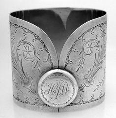 American Coin Silver Collar Napkin Ring 1870