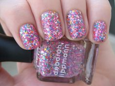 Beautiful Glitter Party Nails for any look 2015 Nail Art Pink Sparkle Nails, Sparkle Nail Polish, Sparkly Nails, Glitter Nail Polish, Pink Nails, Pink Sparkles, Glitter Manicure, Fancy Nails, Nail Nail