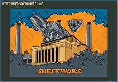 Sheff Wars - Limited Edition Print - SALE – Goo Design