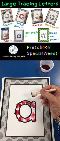 Preschool and Special Needs: Printable alphabet templates to trace, punc, paint, decorate!