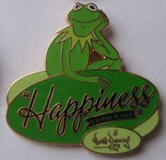 Disney Jim Henson Muppets Kermit the Frog Happiness is a State of Mind pin Disney Pins For Sale, Pin Pics, Kermit The Frog, Disney Trading Pins, Jim Henson, Classic Cartoons, Walt Disney, Mindfulness, Happy