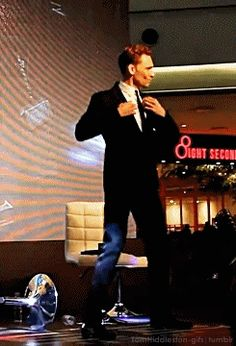 Tom Hiddleston Dancing GIF / 15 Convincing Reasons Tom Hiddleston Is An Actual Disney Prince (via BuzzFeed)