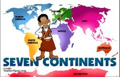 Learn the seven continents.  Video & Lesson Review #homeschool #geography