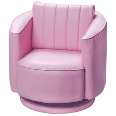 Gift Mark Upholstered Swivel Rocking Chair, Pink ($109) ❤ Liked On Polyvore  Featuring