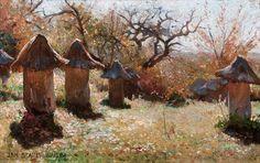"""Jan Stanisławski(1860-1907), """"Ule na Ukrainie"""", 1895"""
