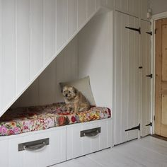 how to build a dog bed under the stairs storage drawers under stairs inspirational gallery view full size dog bed under stairs built in build dog bed stairs Under Stairs Dog House, Space Under Stairs, Bed Stairs, Stair Drawers, Stair Storage, Storage Drawers, Dog Bedroom, Dog Spaces, Small Space Interior Design