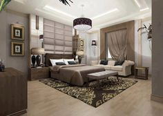 bedroom decorating ideas - love the colours and tones in this space