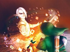 The Legend of Zelda: Skyward Sword, Link and Ghirahim / Diamond Attack by Hanafae on deviantART