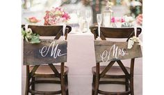 Rustic Bride n Groom Wedding Signs - DIY Wedding Decorations on a Budget