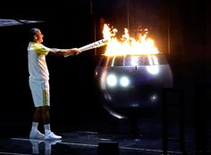 Opening Ceremony, Rio 2016, Olympics, torch, Olympic flame