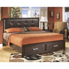 Grendel Eastern King Bookcase Bed With Footboard Storage and Hutch Headboard by Coaster