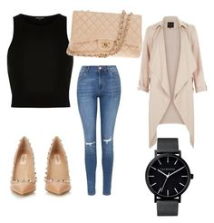 Day out #6 by annemarie-schuyt on Polyvore featuring polyvore fashion style River Island Topshop Valentino Chanel The Horse women's clothing women's fashion women female woman misses juniors