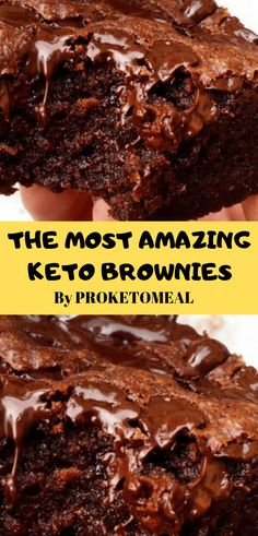 Flourless keto brownies with walnuts, only net carbs each and easy to make. Great for low carb, paleo, sugar free, and gluten free diets. Low Carb Dinner Recipes, Low Carb Desserts, Keto Dinner, Dessert Recipes, Easy Low Carb Recipes, Easy Keto Dessert, Ground Beef Keto Recipes, Snack Recipes, Diet Desserts